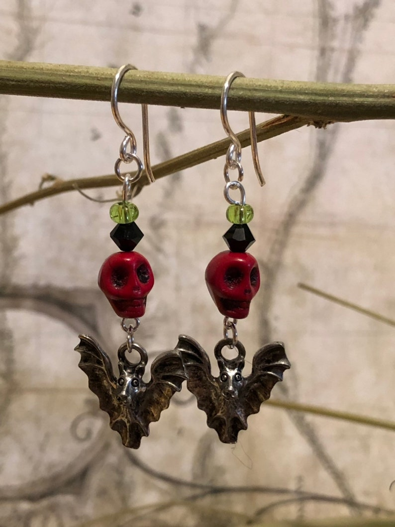 Bat Earrings  Bat Jewelry Bat Gifts Vampire Bat Jewelry image 0