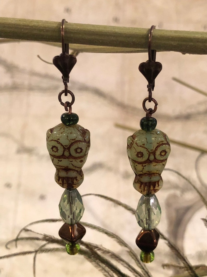 Owl Earrings  Owl Jewelry Forest Gifts Bird Jewelry Owls image 0