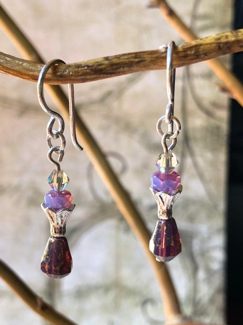Purple Earrings  Purple Jewelry Violet Lavender Jewelry image 0