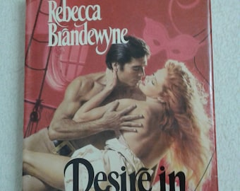 Vintage Book - Desire in Disguise - Rebecca Brandewyne - Red and Taupe Hardcover 1987 - Dust Jacket