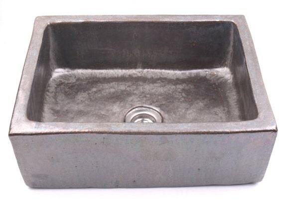 Edelstahl Waschbecken Ungewohnliche Waschtisch Overtop Etsy