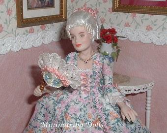 Minimariba Dolls - 1760 Lady - miniature dollhouse doll