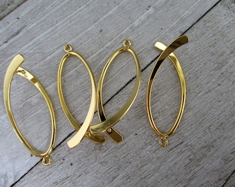 "Earring Hoops Add A Bead Charm Holder 38mm 1 1//2/"" Goldtone Pack of 20"
