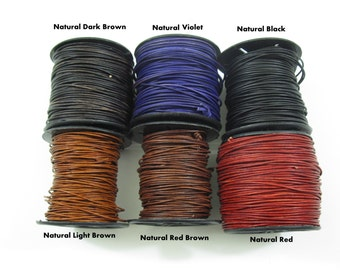 71ee6f9a53 0.5mm LEATHER CORD 10 Meter Spool
