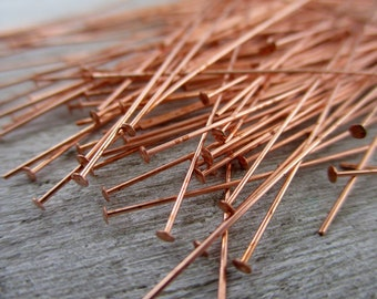 Genuine Copper Flat Ball Head Pins Handmade To Order