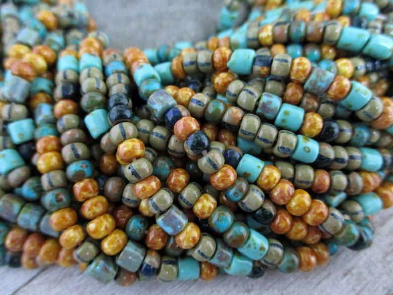 6/0  Bahama Bead Mix Full Strand 160 4mm Seed & Tube Beads image 0