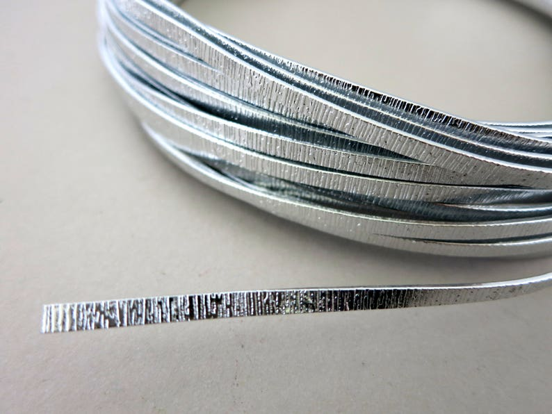 Embossed Flat Aluminum Wire 1x3mm Fancy Wire 12 Meters 39 image 0
