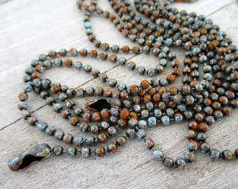 "2.4mm Ball Chain, OLDE ADOBE Patina, Grey, Turquoise & Rust, Hand Applied Patina, by the Inch, 6"" to 72"", 1 Connector per Foot Included"