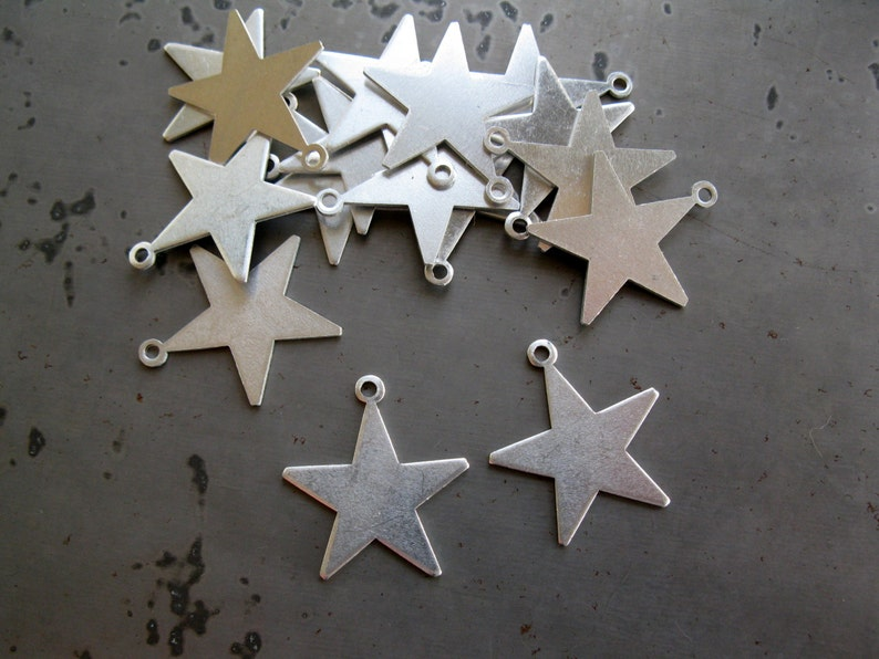 8 Star Stamping Blanks 20 Gauge Aluminum 7/8 Star with image 0