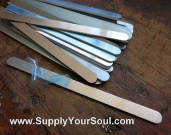 "Aluminum Bracelet Blanks, 3/8""x6"", Metal Cuff Bracelet, 14G Aluminum Stamping Blanks, Cuff Blanks, Choose 12 to 144"
