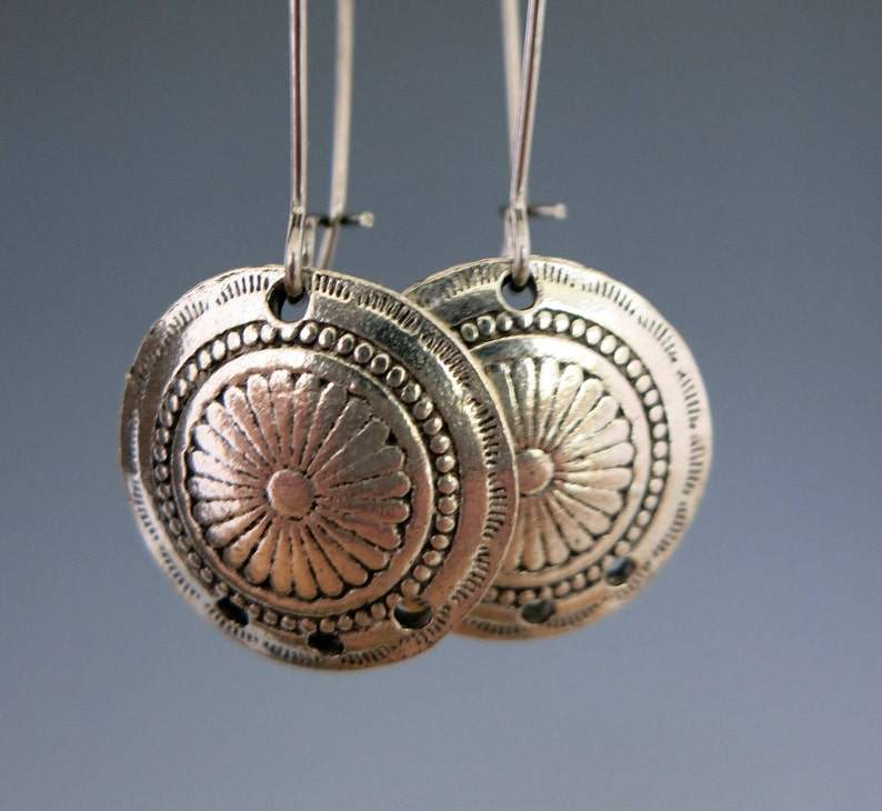 Concho Chandelier Charms Antique Pewter Earring Chandeliers image 0