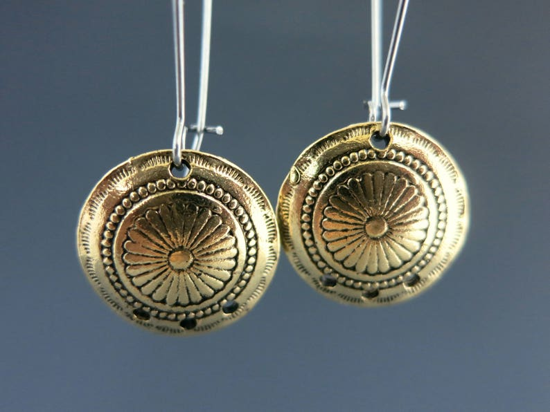 Concho Chandelier Charms Antique Gold Finish on Pewter image 0