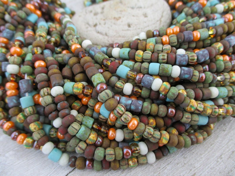 6/0 Beach Cottage Matte Bead Mix Full Strand 200 Beads 4mm image 0