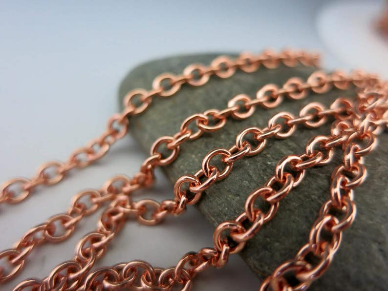 COPPER CABLE CHAIN 4.25mm x 3.6mm links Bulk Chain No image 0