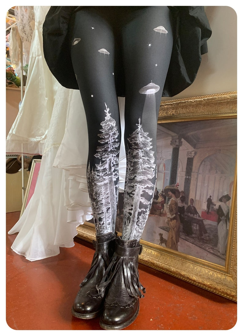 UFO LEGGING Forest Abduction  Witching Hour Forest tights Ufo image 0