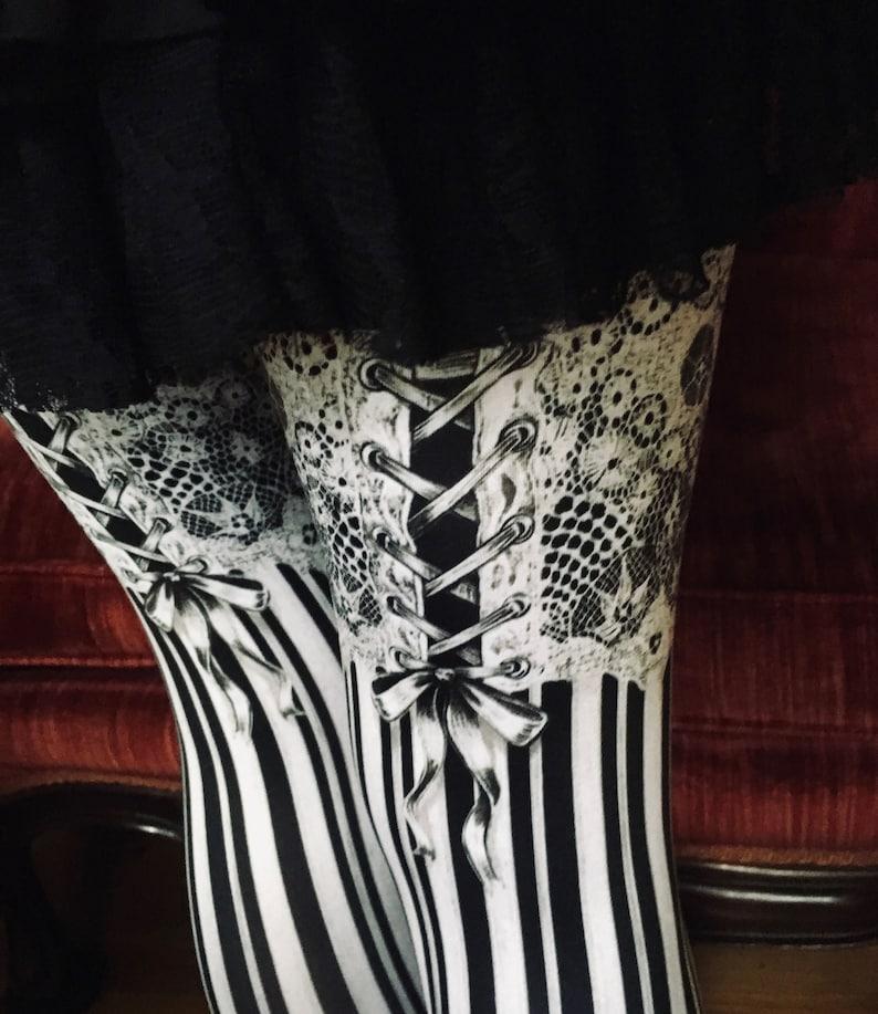 Burlesque LEGGINGS  garter leggings Womens tights image 0