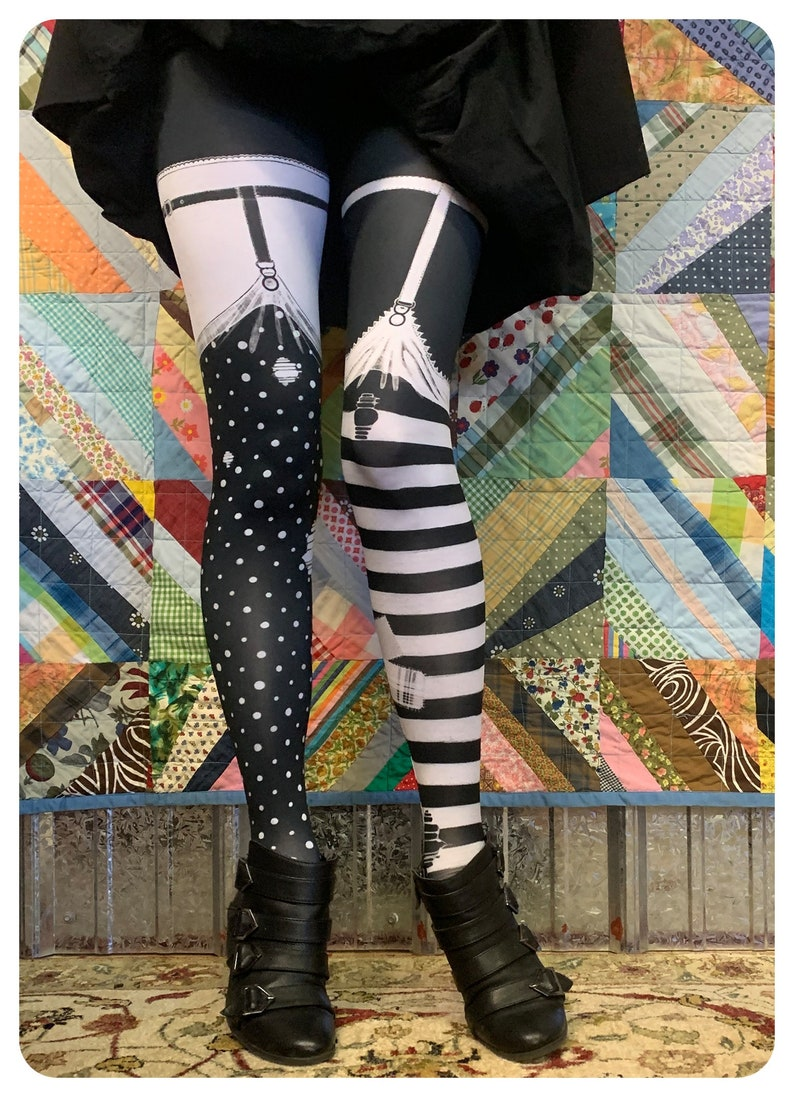 Leggings PIPPI garter Leggings   faux thigh high womens image 0