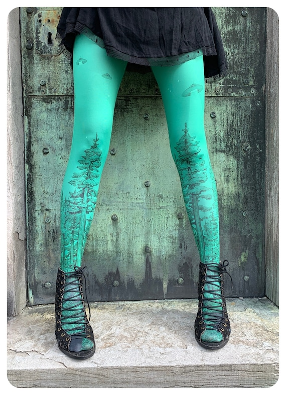 FOREST ABDUCTION - Emerald Experiment TIGHTS ufos