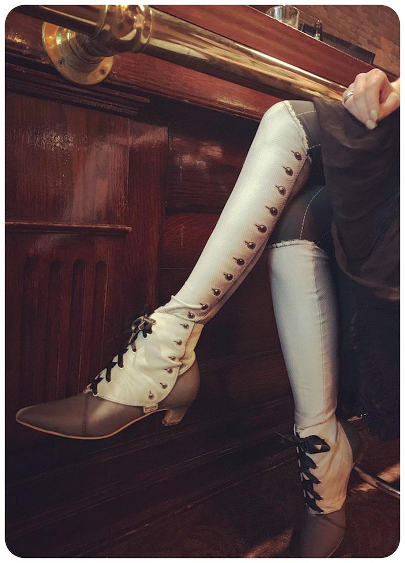 Spat Leggings Victorian Leggings  SALOON  leggings ghost image 0
