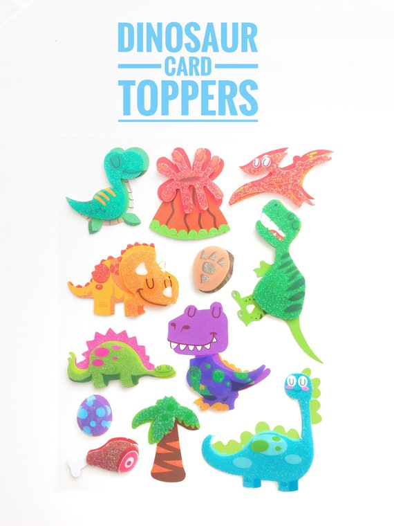 FUN STICKERS-DINOSAURS EMBELLISHMENT STICKERS FOR CARDS AND CRAFTS