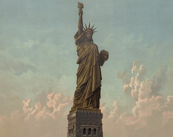 Vintage Statue of Liberty, digital download