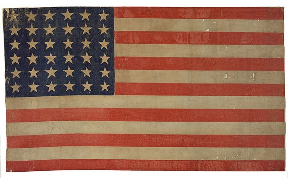 vintage american flag image with 36 stars digital download etsy