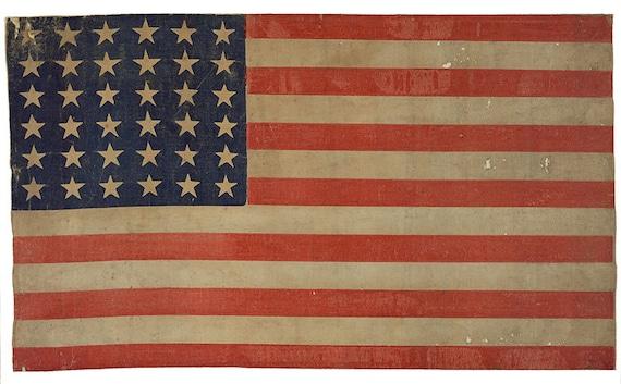 vintage american flag image with 36 stars digital download etsy