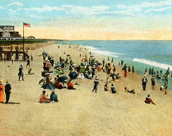 Rehoboth Beach, Delaware Vintage Illustration digital download