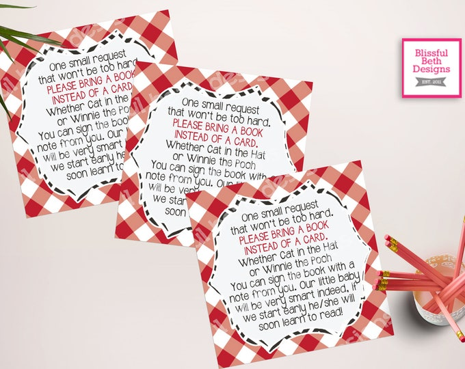 BABY-Q BOOK INSERT, Baby-q Printable Baby Shower Book Card, Baby-Q Insert, Book Insert, Instant Download, Baby-Q Book, Baby-Q
