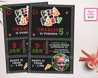 Pizza Party Invitation, Pizza Party, Pizza Birthday Party, Pizza Birthday, Pizza, Pizza Party Birthday, Italian Birthday