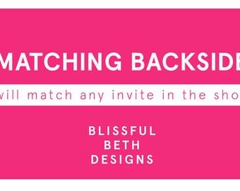 Matching Backside Design