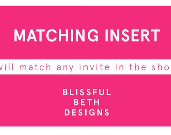Matching Insert Card