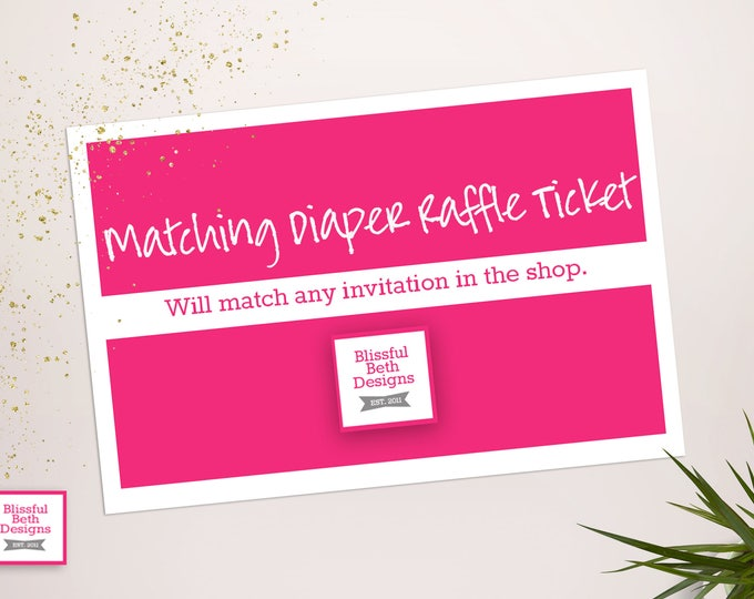 Matching Diaper Raffle Tickets