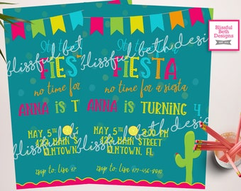 FIESTA BIRTHDAY Invitation, Birthday Fiesta, Fiesta Invitation, Fiesta Birthday, Fiesta, Mexican Invitation, Mexican Birthday Invitation