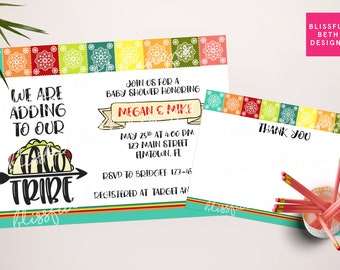 Taco Tribe baby shower, Fiesta baby shower invitation, Taco shower, Taco Tribe, baby shower invitation, Taco Baby Shower, adoption shower