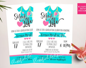 NURSING GRADUATION INVITATION  Nurse Graduation Invitation, Nursing Graduation Invite, Nursing Celebration, Nursing Graduate, Nurse