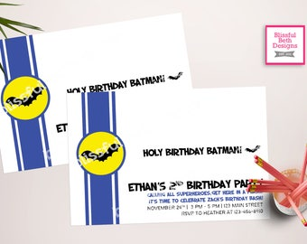 BATMAN BIRTHDAY INVITATION, Batman Birthday Invitation,  Batman Birthday, Batman, Batman Invitation, Batman Invite