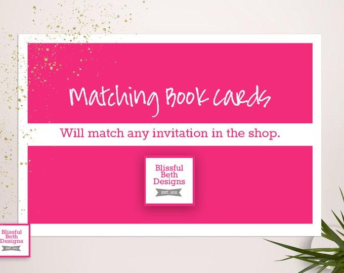 Matching Book Inserts