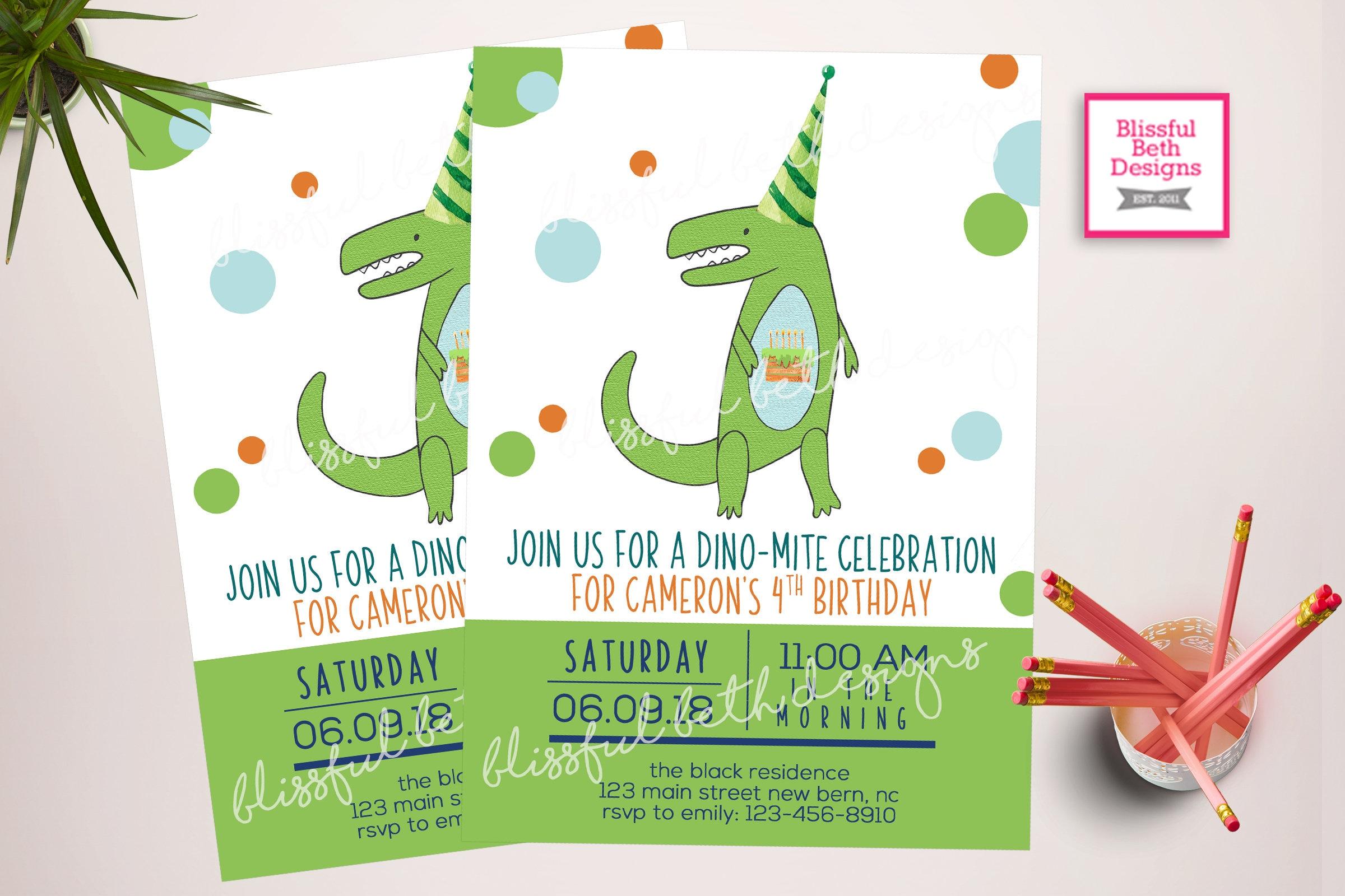 Dinosaur Invitations Dinosaur Birthday Invitations Dinosaur Party