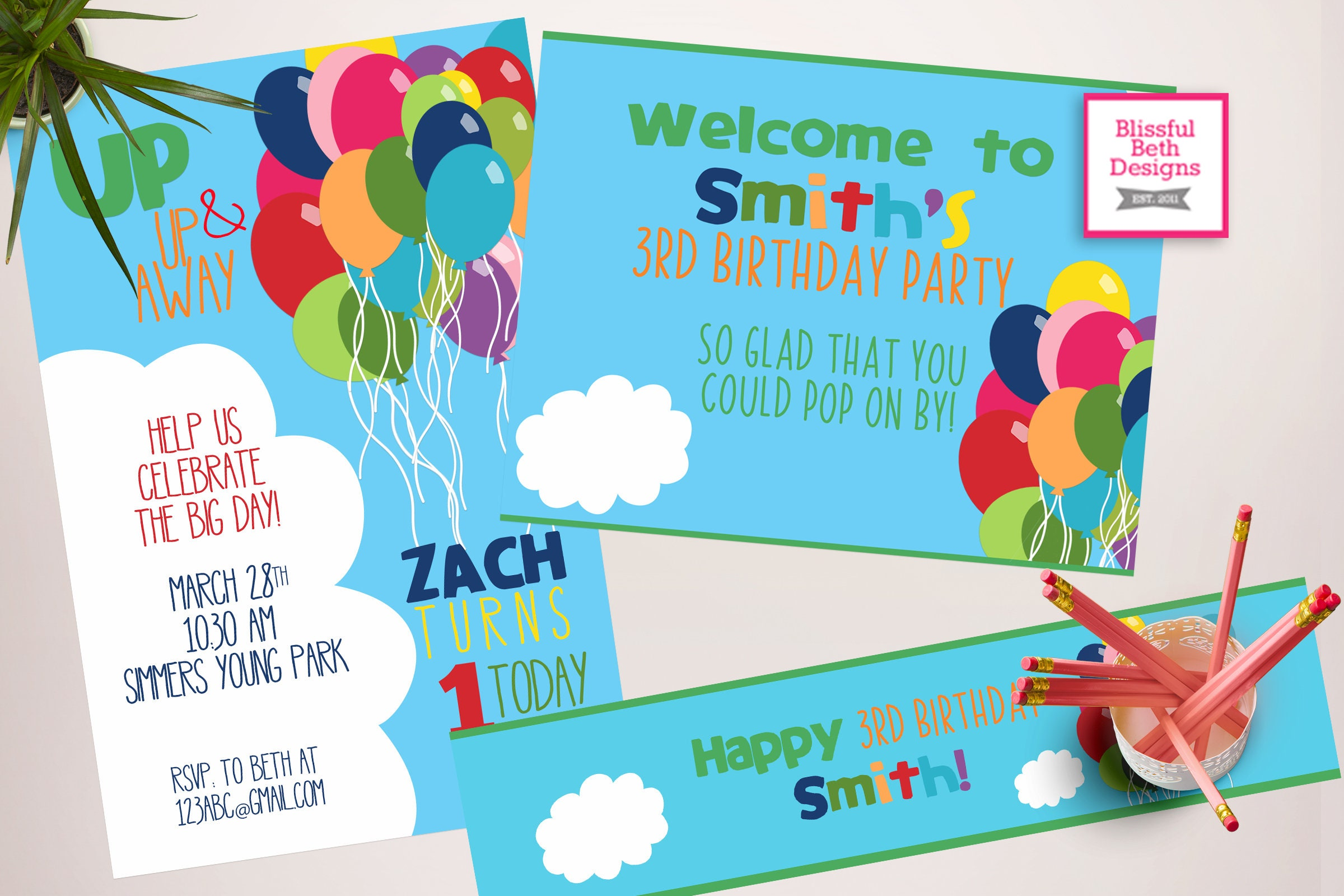 balloon birthday party balloon birthday invitation printable