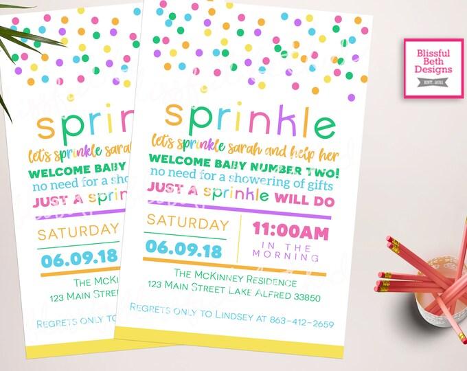 BABY SPRINKLE INVITATION, baby sprinkle shower invites, Sprinkle Shower, Baby Sprinkle, Sprinkle Invitation, sprinkle baby shower invitation