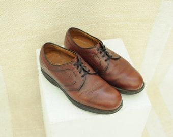 3395f43e6a9d Vintage Alden Brown Pebbled Leather Oxford Shoes