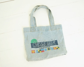 3cedbfb79f Vintage Guess USA Denim Tote bag by Georges Marciano