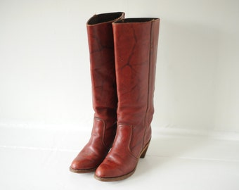 f5b7053a296 Vintage Dexter Burgundy Leather Boots