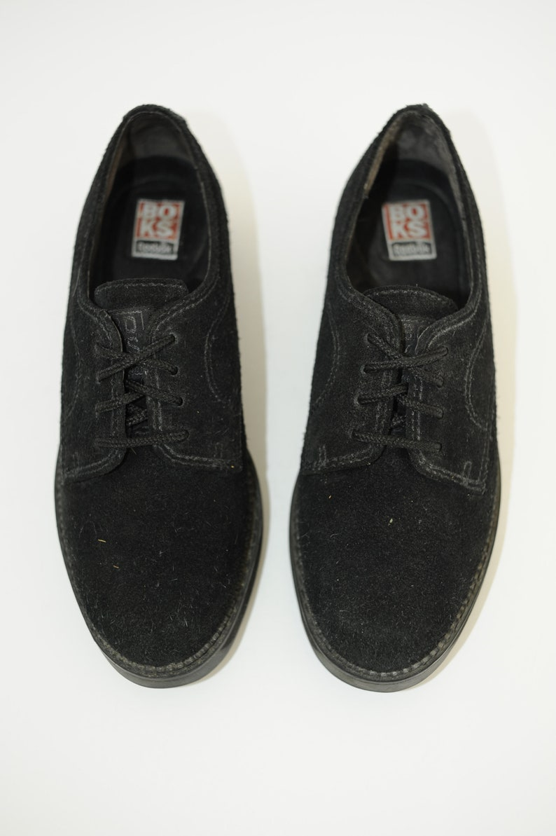 d36c679c5aa Vintage 90 s BOKS by Reebok Black Suede Leather Oxford