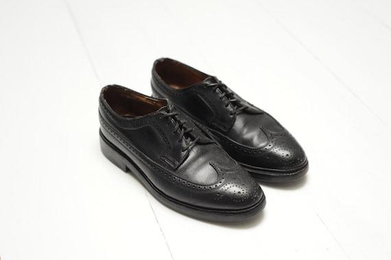 Vintage Florsheim Imperial Black Pebbled Leather W