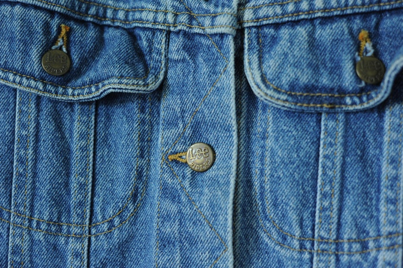 Made in USA Vintage Lee Riders Denim Jacket Womens size Small  ITEM635