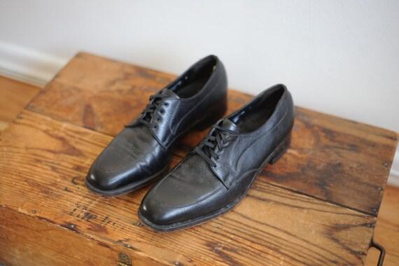Vintage Black Leather Florsheim Dress Shoes Mens 8 1 2 Etsy