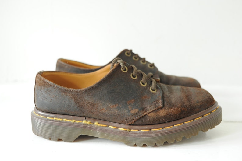 Vintage Dr Martens Brown Suede Leather Oxford Shoes US 8  ITEM222 Made in England Womens UK 6