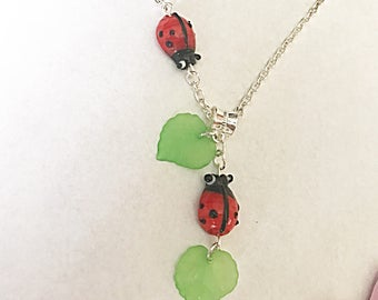Ladybird Necklace, Insect Necklace, Ladybug Necklace, Ladybug Jewelry, Ladybird Jewelry, Insect Jewelry, Ladybird Gifts, Ladybug Gifts